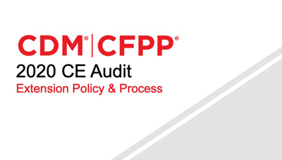 Webinar – 2020 CE Audit Extension Policy and Process
