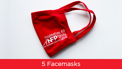 ANFP 60th Anniversary Commemorative Facemask - Pack of 5 Masks